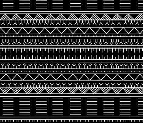 Inuit tattoos-black fabric by martha_kyak on Spoonflower - custom fabric
