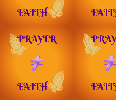 prayer faith cross fabric by toni-brooke_brown on Spoonflower - custom fabric