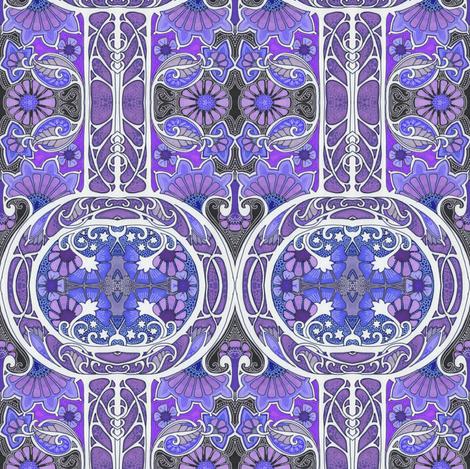 Midnight Flower Circle fabric by edsel2084 on Spoonflower - custom fabric
