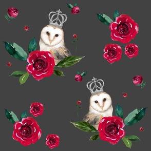"""8"""" WINTER OWLS / MIX & MATCH / GREY"""