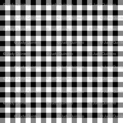 "6"" WINTER PLAID / BLACK & WHITE"
