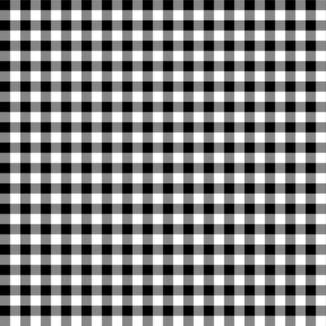 "6"" WINTER PLAID / BLACK & WHITE fabric by shopcabin on Spoonflower - custom fabric"