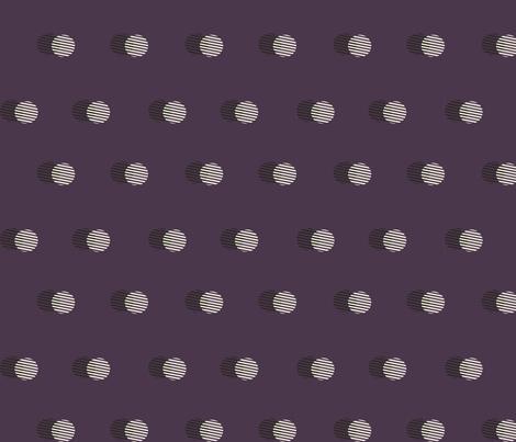 Striped Circle-AUBERGINE fabric by beaconandbatten on Spoonflower - custom fabric