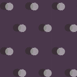 Striped Circle-AUBERGINE