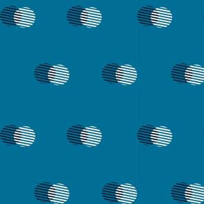 Striped Circle-Faded Indigo
