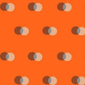 Striped Circle-Flame Orange