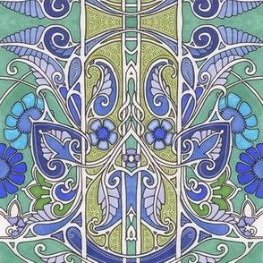 Paisley Flower Blues (and greens)