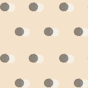 Striped Circle-PEACH
