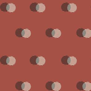 Striped Circle-RUST