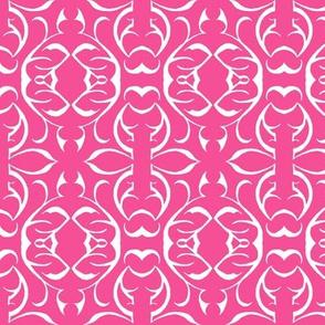 SHANGHAI CIRCLES Pink & White