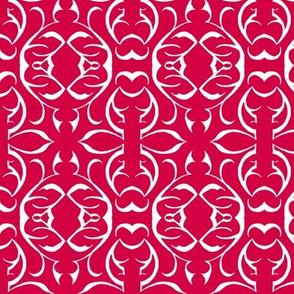 SHANGHAI CIRCLES Red & White