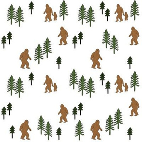 Sasquatch forest mythical animal fabric