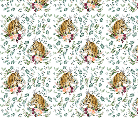 """8"""" Wild at Heart / White fabric by shopcabin on Spoonflower - custom fabric"""