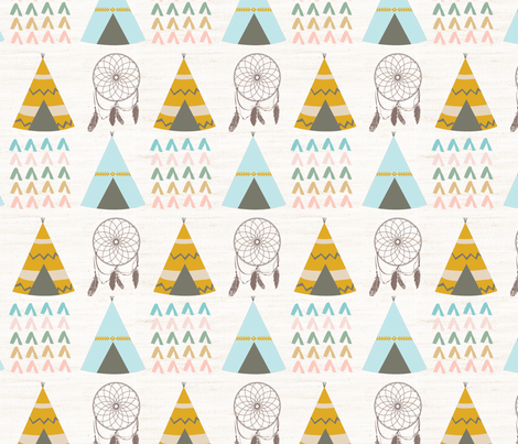 Aztec TeePee fabric by papernpeonies on Spoonflower - custom fabric
