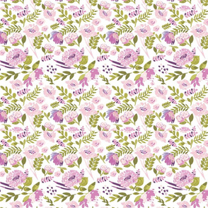 Watercolour Florals in Pink