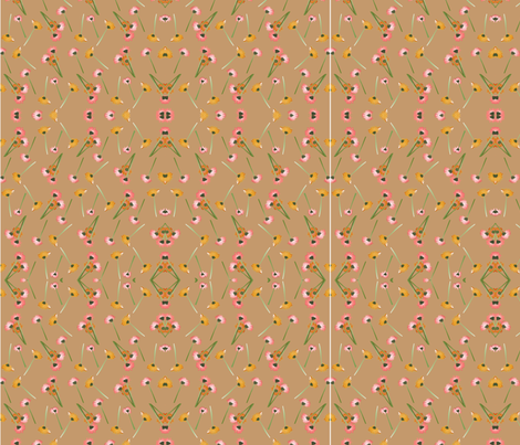daisy-fall-clearbeige fabric by artsanew on Spoonflower - custom fabric