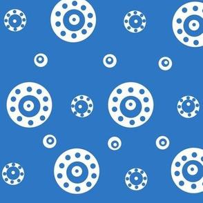 blue and aqua dots