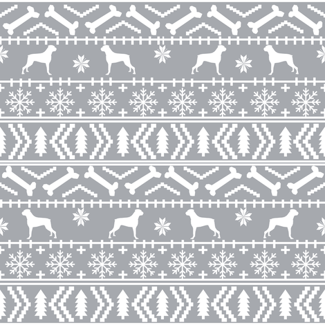 Boxer fair isle christmas sweater fabric grey fabric - petfriendly ...
