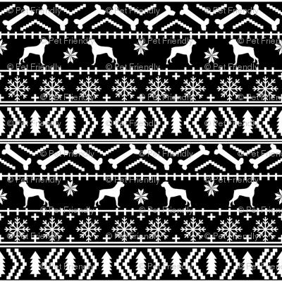 Boxer fair isle christmas sweater fabric black and white fabric ...