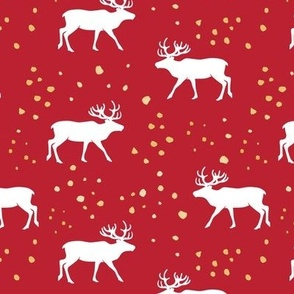 reindeer - holiday red