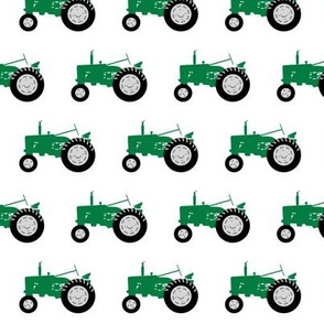tractors - green and black coordinate