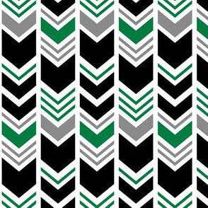 chevron - green/black/grey