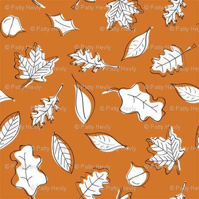 Fall Leaves - Rust - Orange - Small