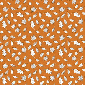 Fall Leaves - Rust - Orange - Small