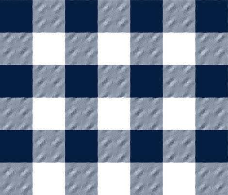 "jumbo plaid (3"") navy buffalo check fabric by littlearrowdesign on Spoonflower - custom fabric"