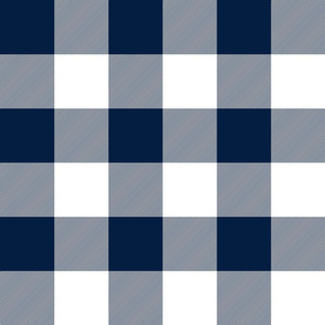 "jumbo plaid (3"") navy buffalo check"