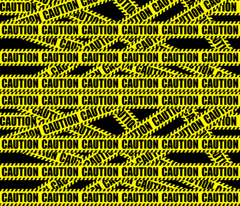 2 caution barricade construction notice warning danger hazard barrier police firefighter tape diagonal stripes life sized pop art novelty  fabric by raveneve on Spoonflower - custom fabric