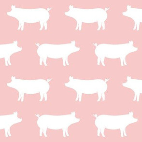 pigs on pink (pink and grey farm collection coordinate)