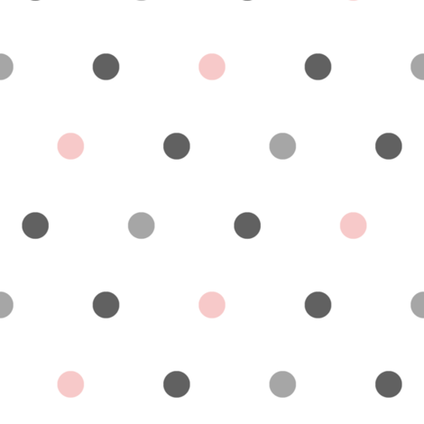 large polka dots    pink and grey farm coordinate fabric by littlearrowdesign on Spoonflower - custom fabric