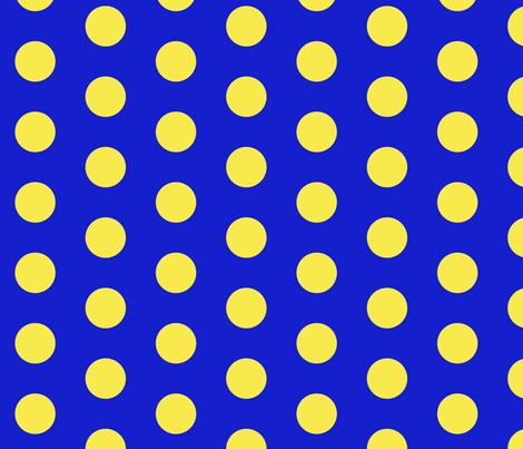 blue_yellow_spot fabric by louellabythesea on Spoonflower - custom fabric