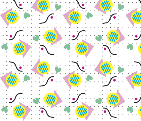 Love_is_pointy_and_bendy fabric by alkoreiel on Spoonflower - custom fabric