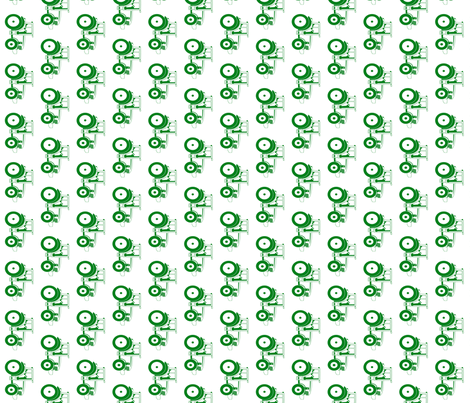 Tractor green on white fabric by sproutz on Spoonflower - custom fabric