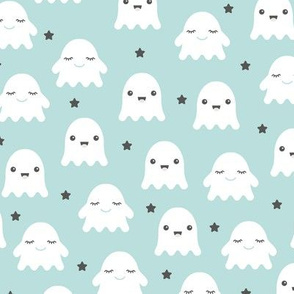 Kawaii love ghosts and stars halloween fright night horror lovers design gender neutral