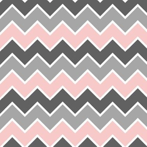 farm coordinate - traditional chevron - pink grey