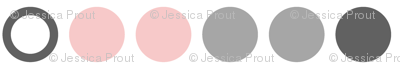 Polka Dots //  pink and grey farm collection coordinate