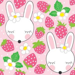 bunny-and strawberries
