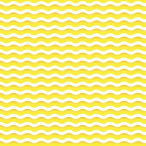 Yellow and white waves