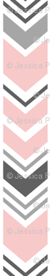 chevron - pink and grey