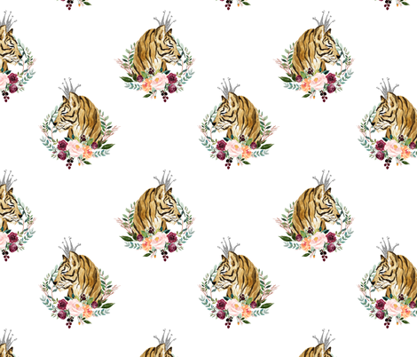 "8"" Wild at Heart / Basic Print / White fabric by shopcabin on Spoonflower - custom fabric"