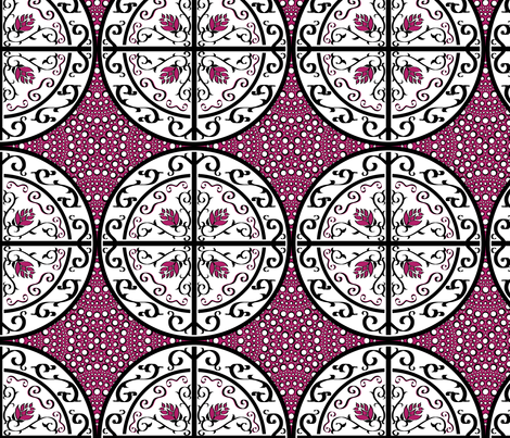 Pink with White Dots fabric by house_of_heasman on Spoonflower - custom fabric