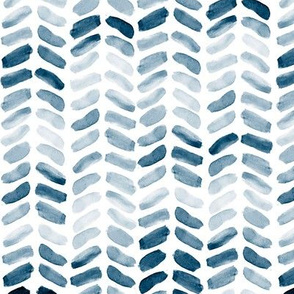 Navy Blue Watercolor Herringbone, vertical