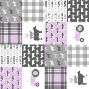 farm life wholecloth (90)  - purple plaid