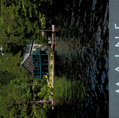 Lake Boat House Maine Tea Towel