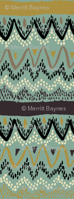 Boho - Neutral Colorway with Soft Greens
