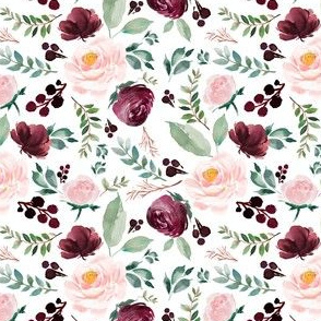 "4"" Wild at Heart Florals / White"
