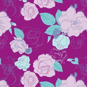 Roses In Bloom - Mint
